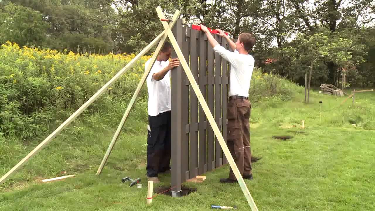 zaunelemente holz aufstellen - meuble garten, Moderne