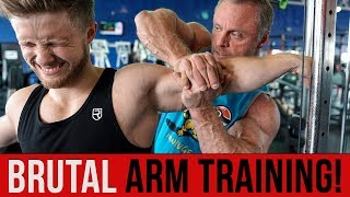 Super HIGH INTENSITY ARM Training with The Mountain Dog (Painful Pump!)