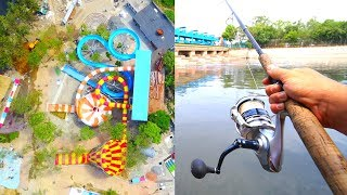 Fishing in ABANDONED WATER PARK?!?!