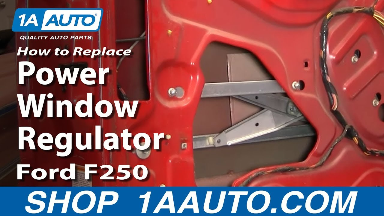 2001 F350 Wiring Diagram How To Install Replace Power Window Regulator 99 07 Ford