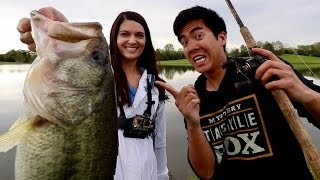 INTENSE Fish-Off vs. the BEST Fisherwoman on ?! (1Rod1ReelFishing vs. Bamabass' Wife)