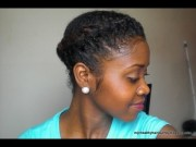 quick protective natural hairstyle