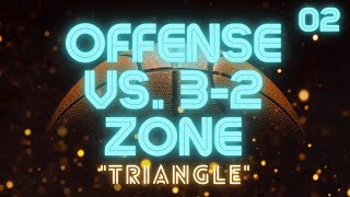 ″Triangle″ Offense vs. 3-2 or 1-2-2 Zone Defense