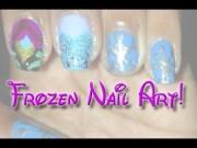 disney series frozen nail art