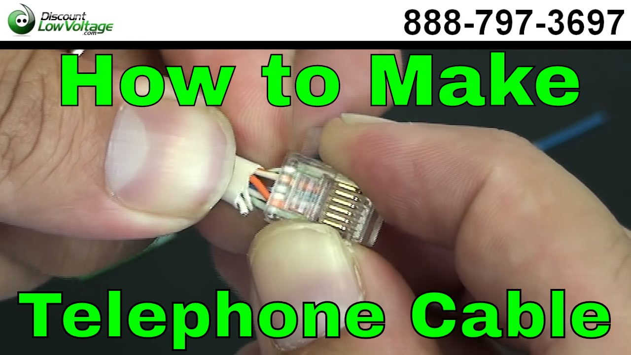 Rj45 Cross Wiring Diagram How To Make A Telephone Cable Usoc Rj11 Rj45 Youtube