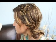 pin curl coil accents -school