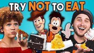 Try Not To Eat Challenge - Disney Food #3 | People Vs. Food