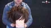 scene emo haircut tutorial
