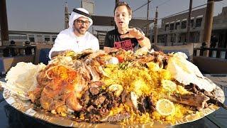 Dubai Food - RARE Camel Platter - WHOLE Camel w/ Rice + Eggs - Traditional Emirati Cuisine in UAE!
