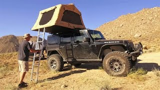 Secret Death Valley Cabins Revealed and First Night in a Roof Top Tent
