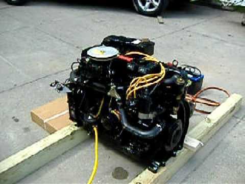 mercruiser wiring diagram 7 4 1979 kz1000 1985 470 cylinder 170 hp inboard engine - youtube