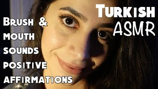 TÜRKÇE ASMR CLOSE UP STIPPLE | Ear Eating MOUTH SOUNDS | INAUDIBLE WHISPERING & MAKEUP BRUSHES