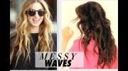 """messy"""" beach waves curls tutorial"""