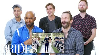 'Queer Eye' Cast Reviews the Internet's Biggest Wedding | Brides