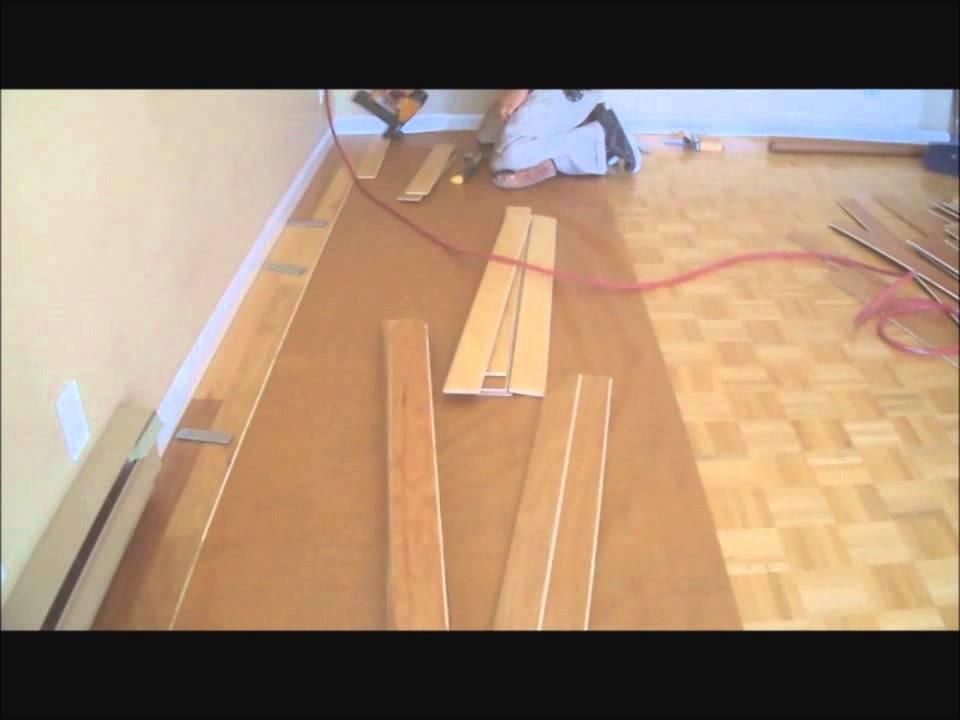 Laying Hardwood Floors