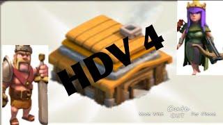 Clash of clans bon village hdv 4
