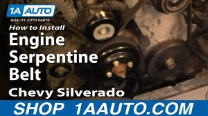 How To Install Replace Engine Serpentine Belt Chevy