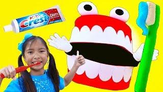 Brush Your Teeth Song   Wendy Pretend Play Learning How to Brush Teeth Nursery Rhymes & Kid Song
