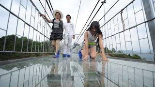 China Opens Scary Glass Bridge