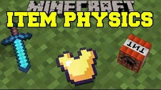 Minecraft: ITEM PHYSICS (EPIC DROP ANIMATIONS, FLOATING BLOCKS, & MORE!) Mod Showcase