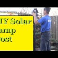 Diy solar led lamp post free light energy all year round and looks
