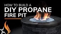 How To Build A Fire Pit With Propane Gas - YouTube