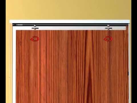 Montaje de puertas correderas Armazones de Hoja nica y doble para DOORTECH y BASE  YouTube
