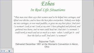 Rhetoric (Ethos, Logos, and Pathos) - English 2A, Unit 3