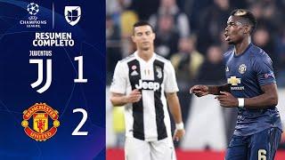 Juventus 1-2 Manchester United - GOLES Y RESUMEN EXTENDIDO - UEFA Champions League