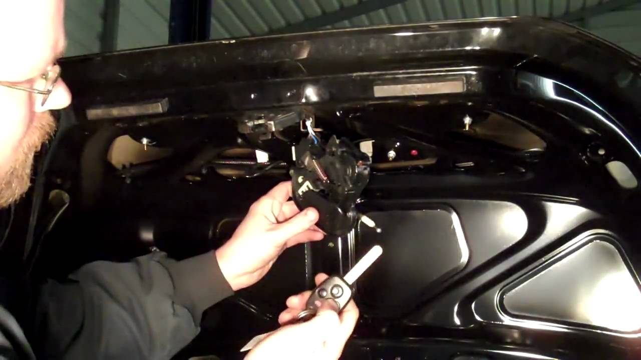 fiat spider wiring diagram 4 wire switch how to repair a trunk that won't open (part 1) - youtube