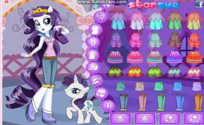 Equestria Girls Rarity Pony Games Dress Up Games Youtube