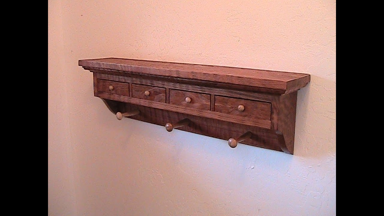 Make a Shaker inspired wood coat rack with drawers