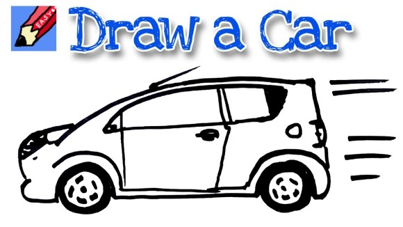 How to draw a car real easy - spoken tutorial - YouTube