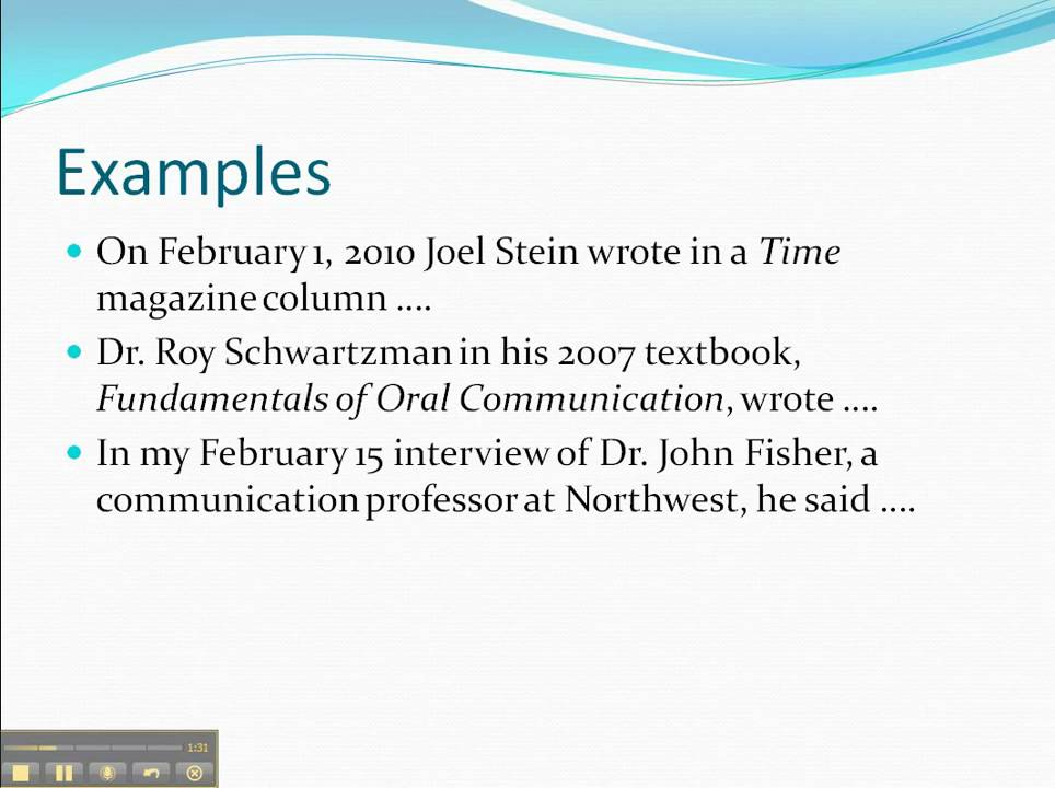 How To Do Oral Citations In Speeches YouTube