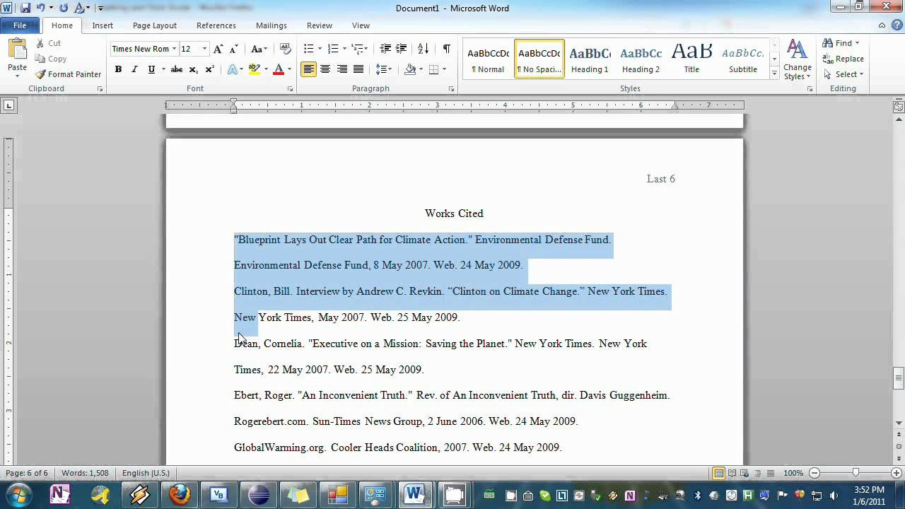 what is mla format in word