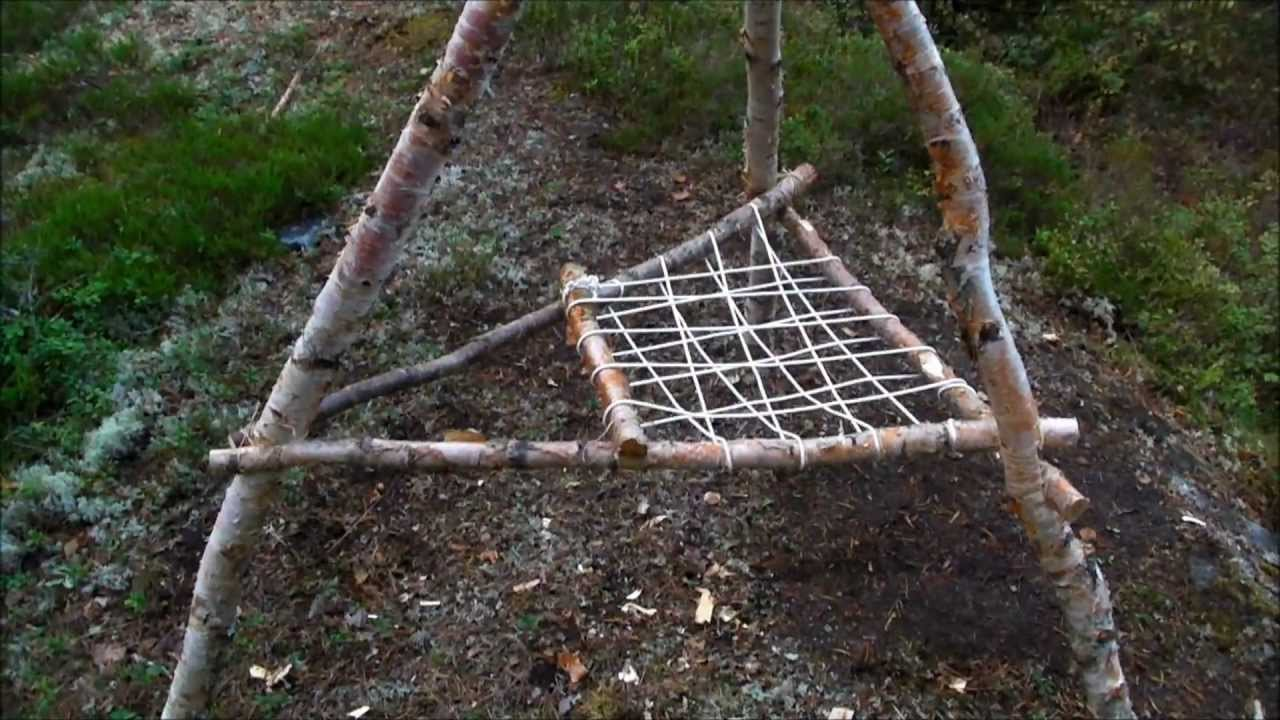 How To Build A Bushcraft Chair  YouTube