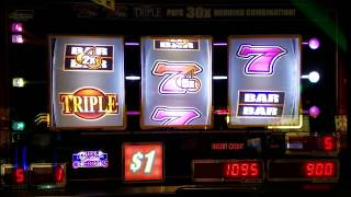 BIG WIN Triple Golden Cherries Slot Machine 7s Line Hit !!!! Live Play MAX BET 🤑🤑