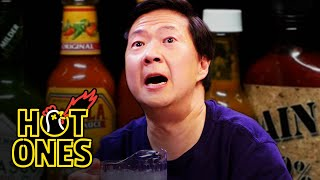 Ken Jeong Performs a Physical While Eating Spicy Wings | Hot Ones