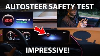 Mercedes EQC autosteer safety test