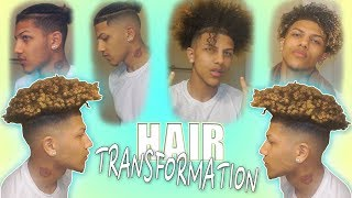 Full Hair Transformation From Braids To Curls (Bald Fade Haircut)