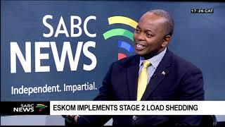 Reaction to Eskom's stage 2 loadshedding: Ted Blom