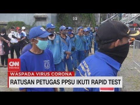 Ratusan Petugas PPSU Ikuti Rapid Test