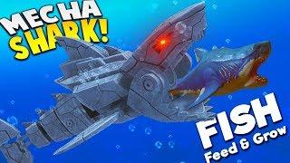 *NEW* KILLER MECHA SHARK! | Feed and Grow Fish