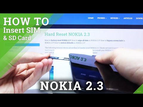 How to Insert SIM and SD Card in NOKIA 2.3 - Nano SIM and Memory Card