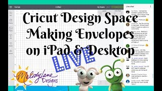 LIVE Learn to Make Envelopes in Cricut Design Space iPad App Free