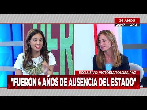 """Victoria Tolosa Paz: """"La población está muy castigada"""""""