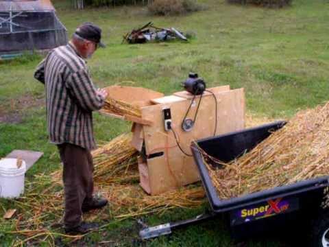Small Scale Grain Threshing Machine 1  3  YouTube
