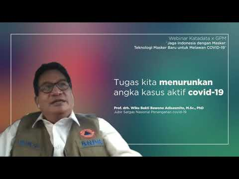 Prof. drh. Wiku Bakti Bawono Adisasmito, M.Sc., PhD:Tugas Kita Menurunkan Angka Kasus Aktif Covid-19