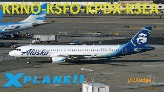 X-Plane 11 | NEW IAE Sounds! | B737 A319 CRJ2 | PilotEdge | Reno, San Francisco, Portland & Seattle