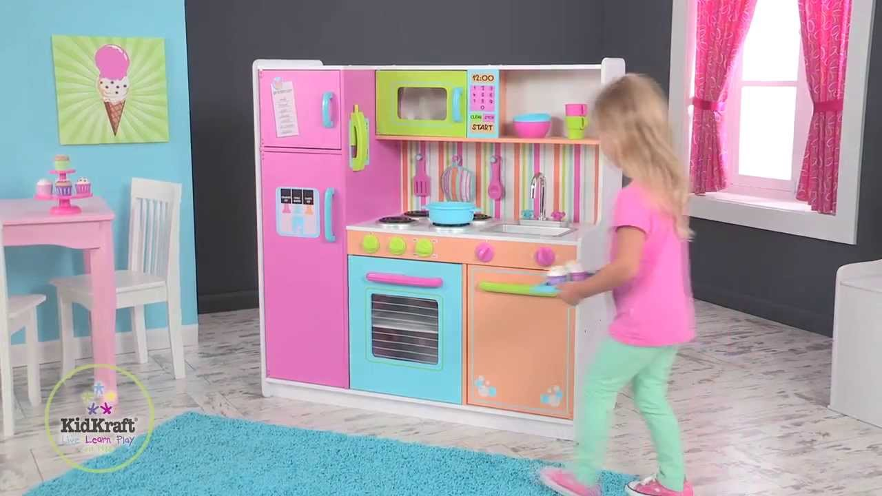 ... Kidkraft Deluxe Big U0026 Bright Play Kitchen Youtube ...